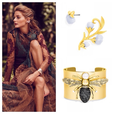 Olivia Palermo Jewelry Collection for BaubleBar Anderson Ear Crawler and Queenbee Cuff
