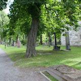 Bij de Nidaros-kathedraal in Trondheim.