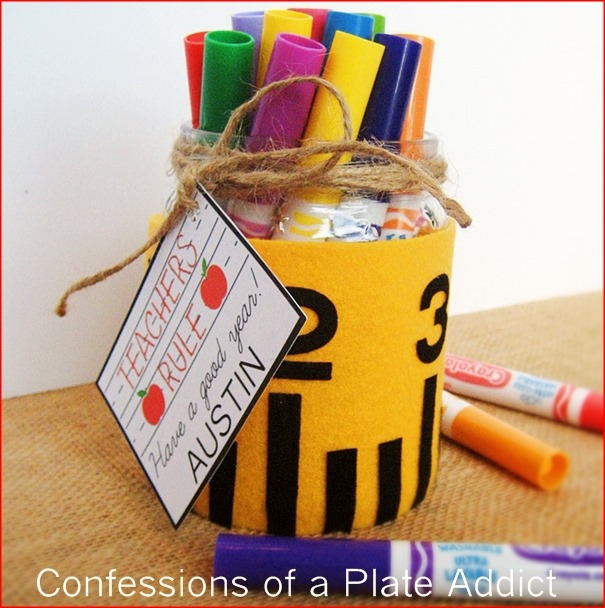 CONFESSIONS OF A PLATE ADDICT Teachers Rule No-Sew Back-to-School Gift