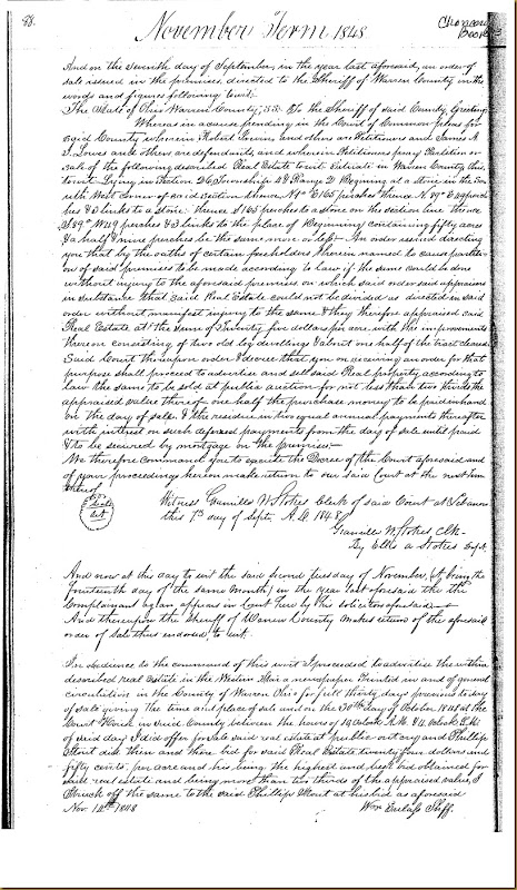 Robert and James Irwin, James Scott and wife, Lydia vs James Lowes 1848 11