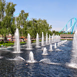 gorgeous fountains at Canada's Wonderland in Vaughan, Ontario, Canada