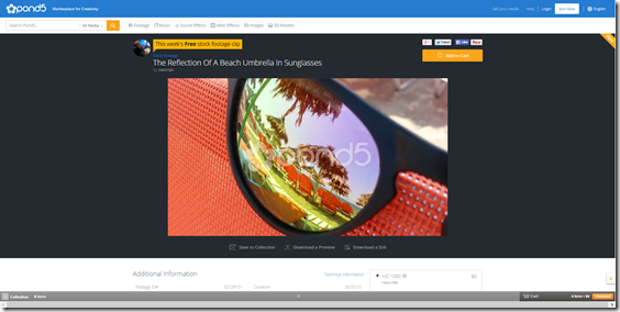 The Reflection Of A Beach Umbrella In Sunglasses Stock Video 52129131   HD Stock Footage