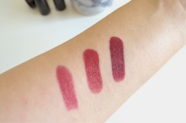 MAC Lipsticks, MAC Plumful, MAC Party Line, MAC Media