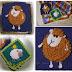 وحدة كروشيه مربعة على شكل خروف حلوة لتزيين بطانيات الأطفال بالباترونوالخطوات