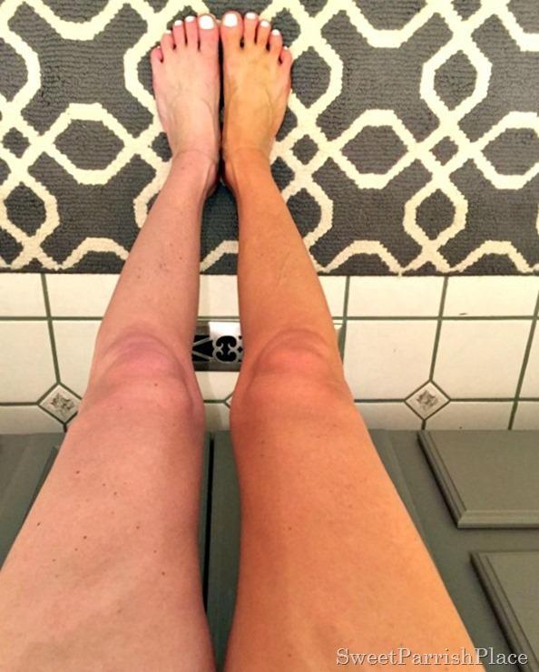 sun kissed legs