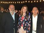 Ramón de Isequilla, Sandra Sotelo y Carlos García Santos
