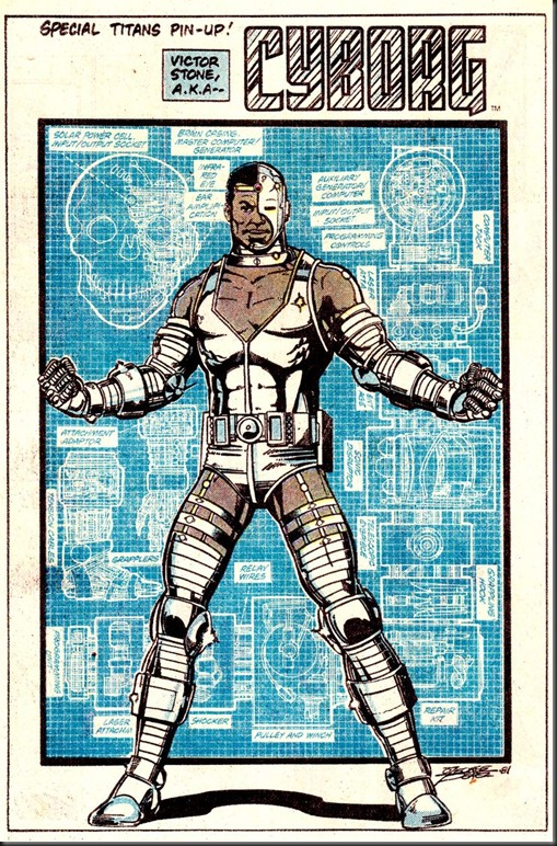 Cyborg Pin-Up by George Perez