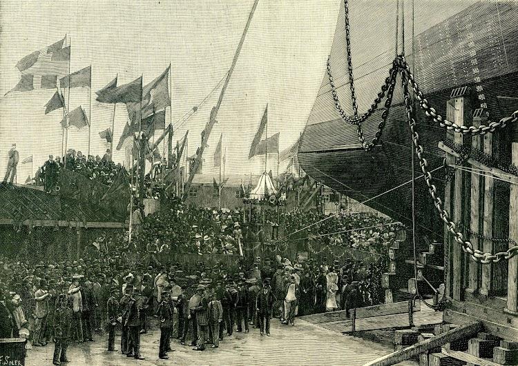 4-Botadura del VIZCAYA. De la revista NATURALEZA, CIENCIA E INDUSTRIA. AÑO 1891..jpg
