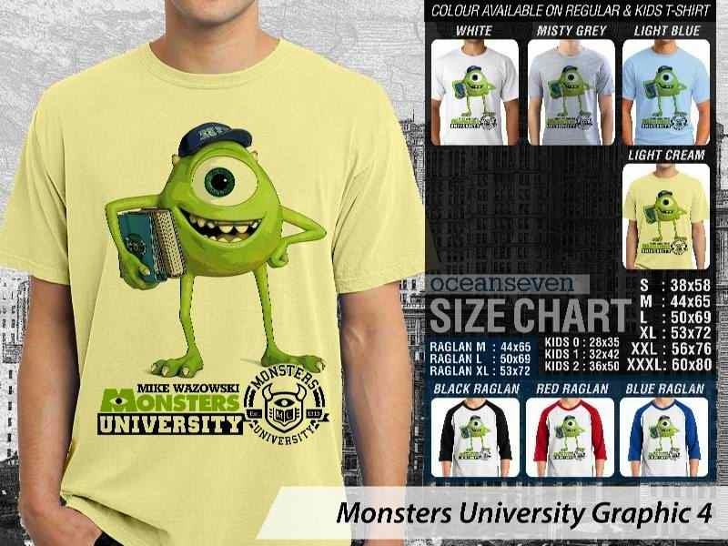 KAOS Monster University 14 Film Lucu distro ocean seven