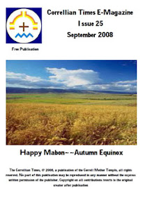 Cover of Correllian Times Emagazine's Book Issue 25 September 2008 Happy Mabon Autumn Equinox