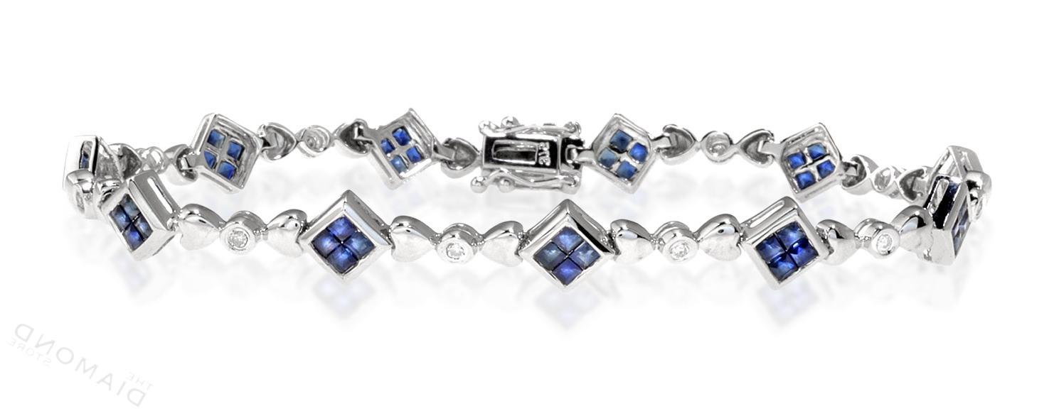 Sapphire & 0.15CT Diamond