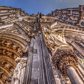 Up by Darin Williams - Buildings & Architecture Places of Worship ( cologne, gothic, facade, church, dom, cathedral,  )