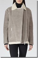 Reiss sheepskin aviator jacket