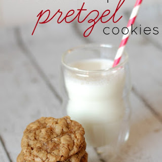 Chocolate Chip Pretzel Cookies with Chestnut Spread