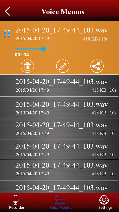 Voice recorder pro Screenshot 2