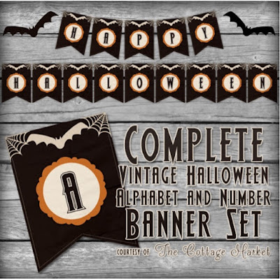 Halloween alphabet banner