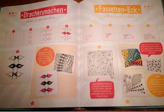 Zentangle für Kids Buch von Beate Winkler Doppelseite Tangle