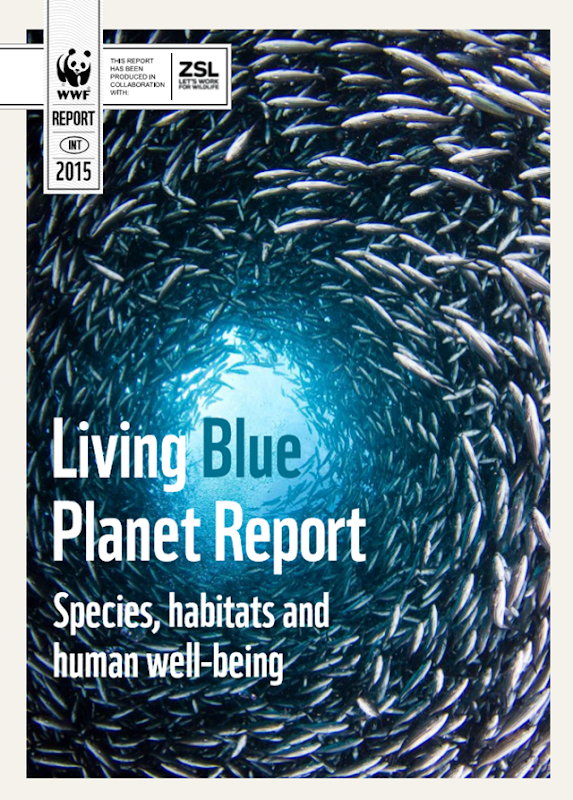 Cover of the 'Living Blue Plant Report 2015'. Graphic: WWF