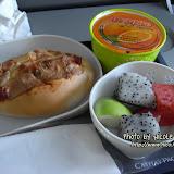 飛機餐,薄餅很好吃。