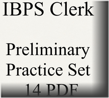 IBPS Clerk Preliminary Question paper PDF Set 14