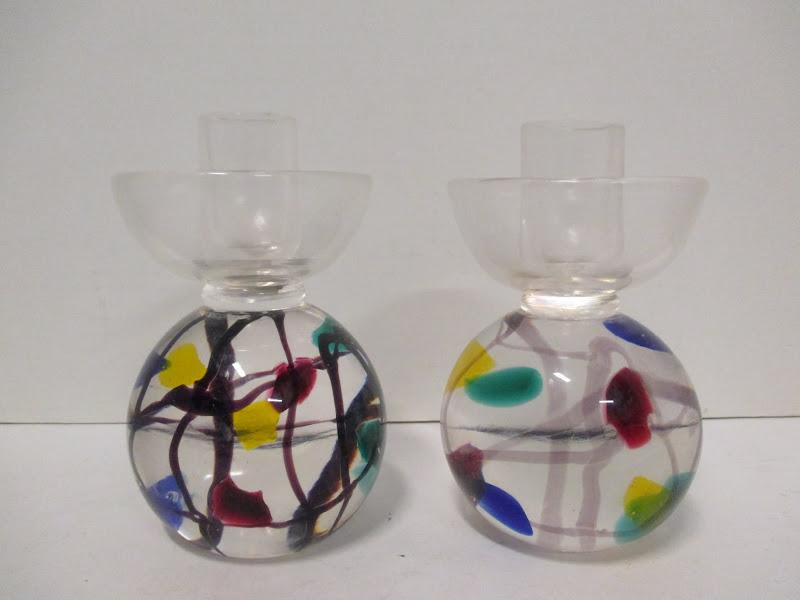 Murano Art Glass Taper Holders