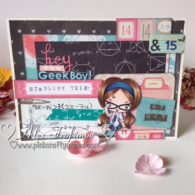 the greeting farm cheeky geeky stamp prima school memories crate paper love notes copic geek nerd nerdy card cards math