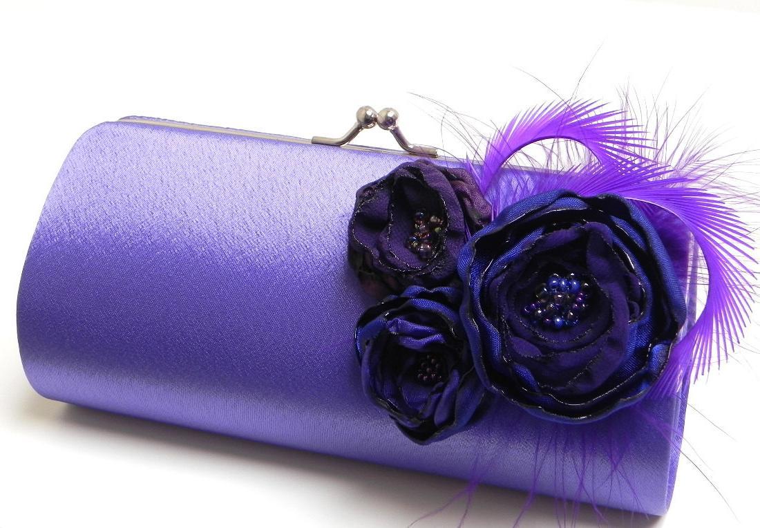 eggplant royal blue wedding
