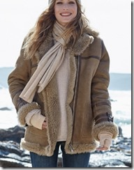 Celtic sheepskin flying jacket