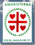 Amorism standar flagga på DSC01903 Moln himmel