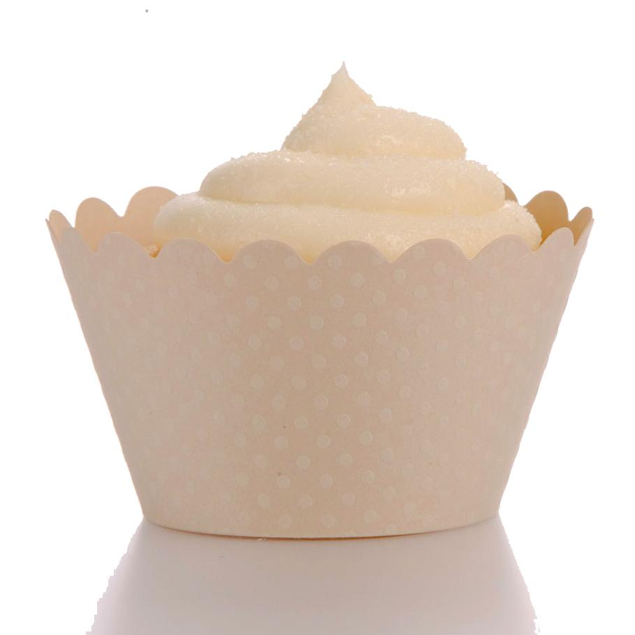 Emma Ivory Cupcake Wrappers - Pack of 12