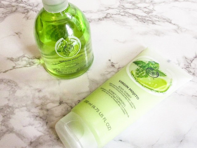 beauty-blog-the-body-shop-haul-virgin-mojito-range-body-sorbet-body-butter-body-splash-shower-gel-body-scrub-summer-limited-edition-new-skincare-body-bath