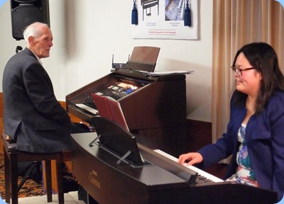 Rendall Miller and Vicki Chen gave us an orgna/piano duet. Photo courtesy of Dennis Lyons.
