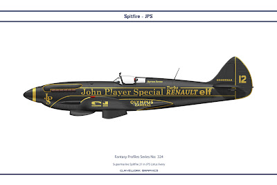 Supermarine Spitfire 21 in JPS Lotus livery