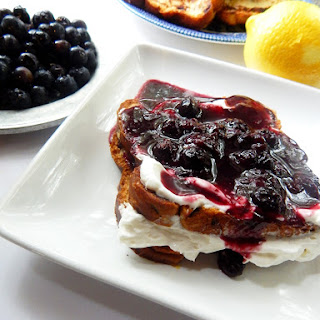 Lemon Blueberry Stuffed French Toast