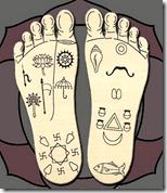 [Krishna's feet]
