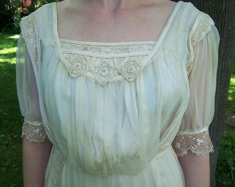 Antique Silk and Irish Lace