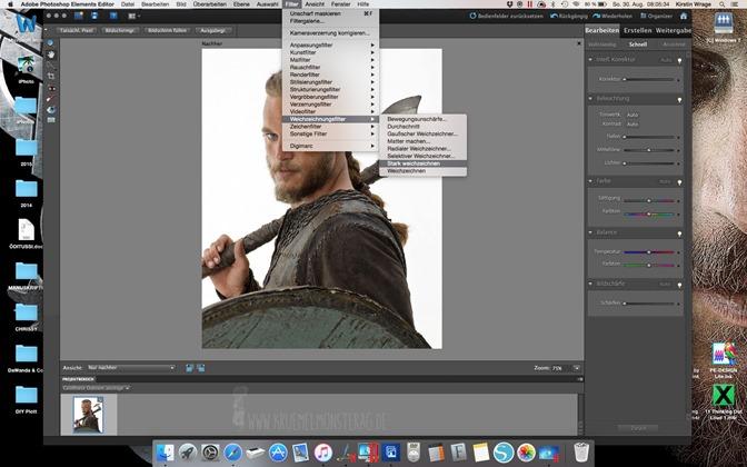 Minitutorial (02) Ich plotte mir Ragnar Lothbrok zum Kuscheln