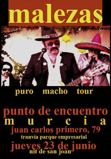 Cartel para la actuación de Malezas en 'Puno de Encuentro', Murcia, 23-06-2011