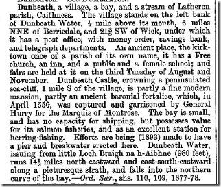 Groomes gazetter Dunbeath