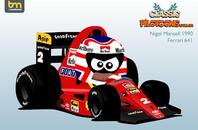 Найджел Мэнселл Ferrari 1990 pilotoons