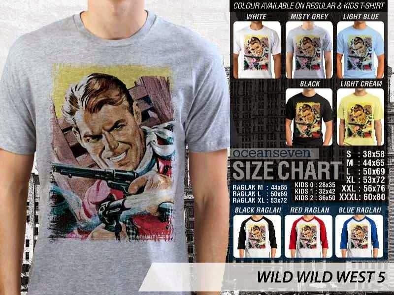 Kaos Cowboy Americana 5 Wild West distro ocean seven