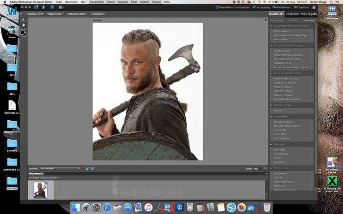 Minitutorial (01) Ich plotte mir Ragnar Lothbrok zum Kuscheln