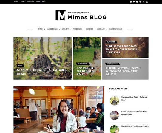 mimes-blog-template