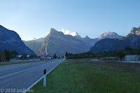 Vom Passo San Osvaldo (872m) Richtung Longarone.