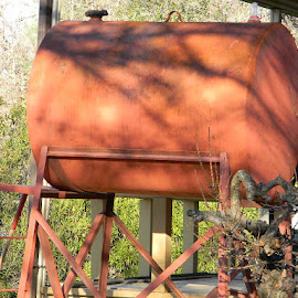 Rusty Oil Tank by Sarah Farber - Artistic Objects Industrial Objects