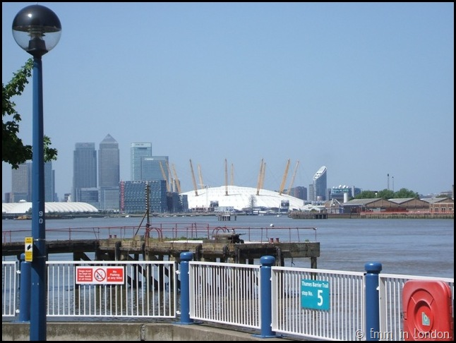 The O2 from the Thames Barrier