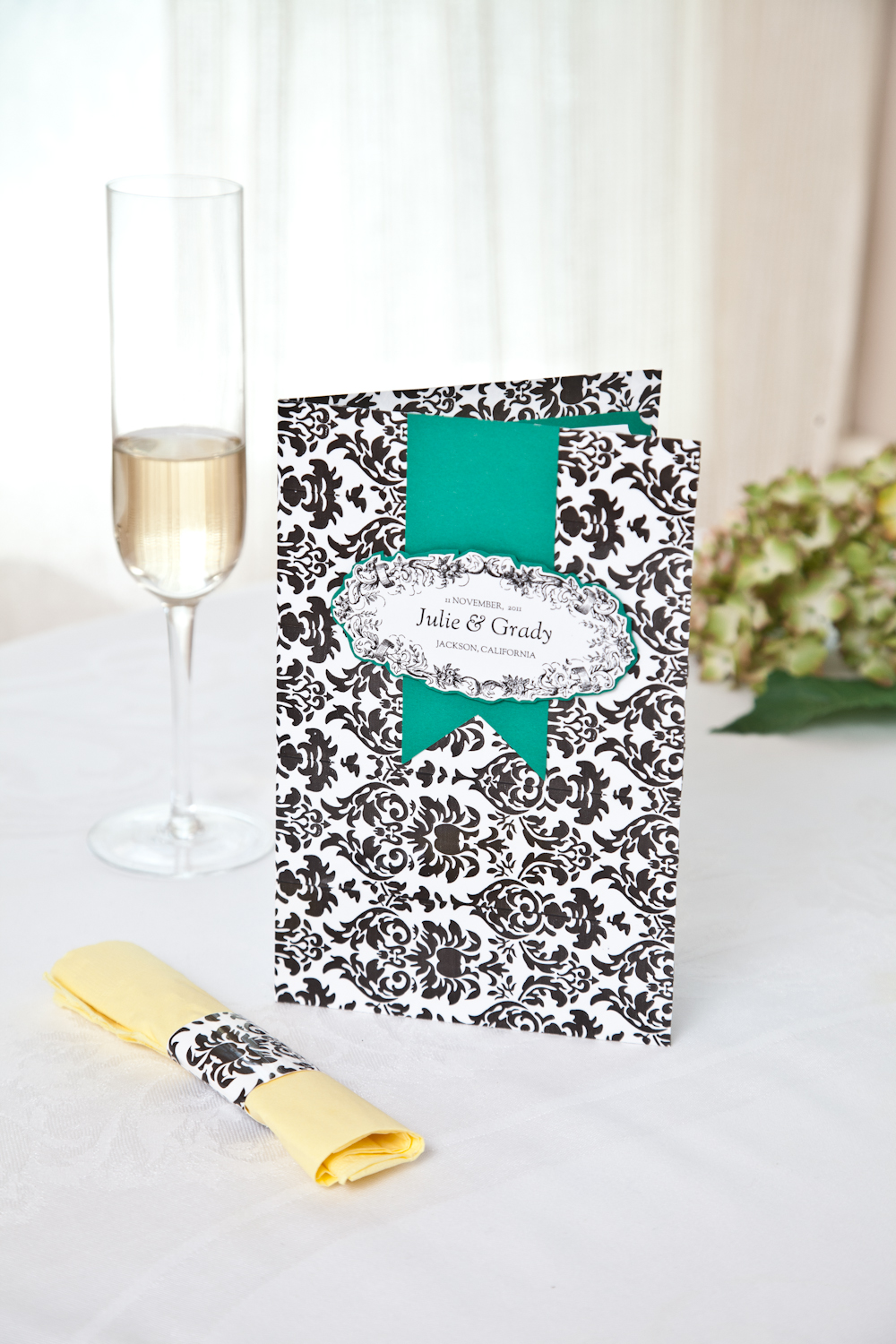 Damask Wedding Programs