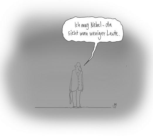 Nebel Cartoon Graf von Blickensdorf