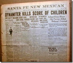New Mexico newspaper headlines the disaster