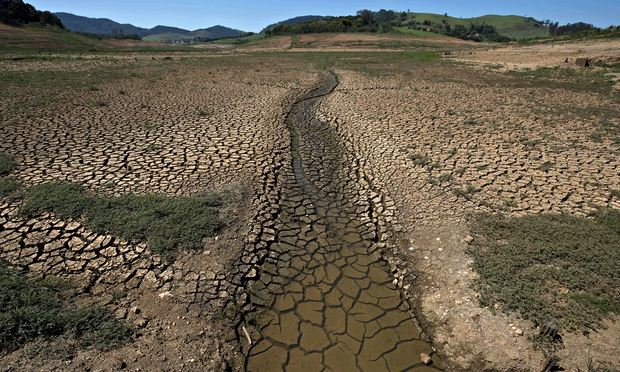 The Jacarei river dam is part of São Paulo's Cantareira system of dams. Photo: Nelson Almeida / AFP / Getty Images